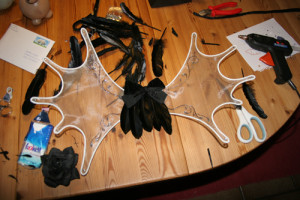 Fairy wings - decorating the back